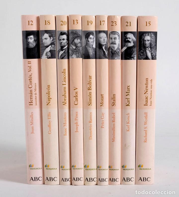 9 LIBROS DE LA BIBLIOTECA ABC. PROTAGONISTAS DE LA HISTORIA. 2004 (Libros de Segunda Mano - Biografías)