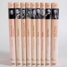 Libros de segunda mano: 9 LIBROS DE LA BIBLIOTECA ABC. PROTAGONISTAS DE LA HISTORIA. 2004. Lote 168236696
