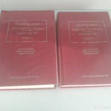 Libros de segunda mano: FAUSTO DE OTAZU A IÑIGO ORTÉS DE VELASCO - CARTAS 1834-1841 - 2 VOLÚMENES - VITORIA-GASTEIZ 1995. Lote 168395464