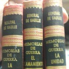 Libros de segunda mano: LIBRO MEMORIAS DE GUERRA LOTE. Lote 168617672