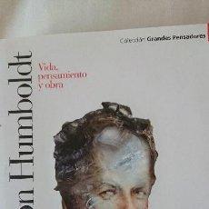 Libros de segunda mano: A VON HUMBOLDT. VIDA PENSAMIENTO Y OBRA - COLECCIÓN GRANDES PENSADOES. OBRA SELECTA. TOMO 26. Lote 168902012