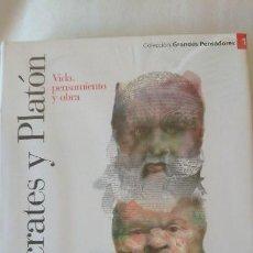 Libros de segunda mano: SÓCRATES Y PLATÓN. VIDA PENSAMIENTO Y OBRA - COLECCIÓN GRANDES PENSADOES. OBRA SELECTA. TOMO 1. Lote 168910816