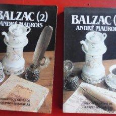 Libros de segunda mano: BALZAC. ANDRÉ MAUROIS. EDITORIAL SALVAT. DOS LIBROS NUEVOS. Lote 169718648