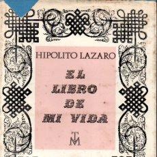 Libros de segunda mano: HIPÓLITO LÁZARO : EL LIBRO DE MI VIDA (1968) CON AUTÓGRAFO DE LA VIUDA DEL TENOR. Lote 169825984