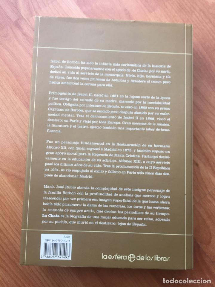 Libros de segunda mano: LA CHATA. MARIA JOSE RUBIO. LA ESFERA DE LOS LIBROS. 2003. MIDE: 24,8 X 16,8 CMS. - Foto 3 - 170245616