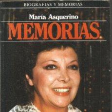 Livros em segunda mão: MARIA ASQUERINO. MEMORIAS. PLAZA & JANES. . Lote 171111289