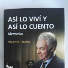 Libros de segunda mano: LLADRÓ ASÍ LO VIVÍ Y ASÍ LO CUENTO MEMORIAS. Lote 172248944