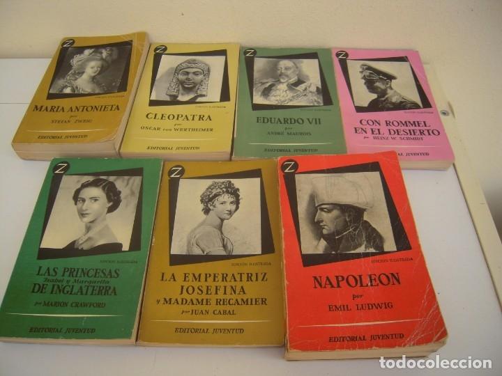 LOTE DE 6 COLECCION Z GRANDES PERSONAJES (Libros de Segunda Mano - Biografías)