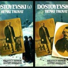 Libros de segunda mano: B509 - DOSTOYEVSKI. COMPLETO. 2 TOMOS. ILUSTRADOS. HENRI TROYAT. P. JOAQUIN MARCO. SALVAT.. Lote 173297513
