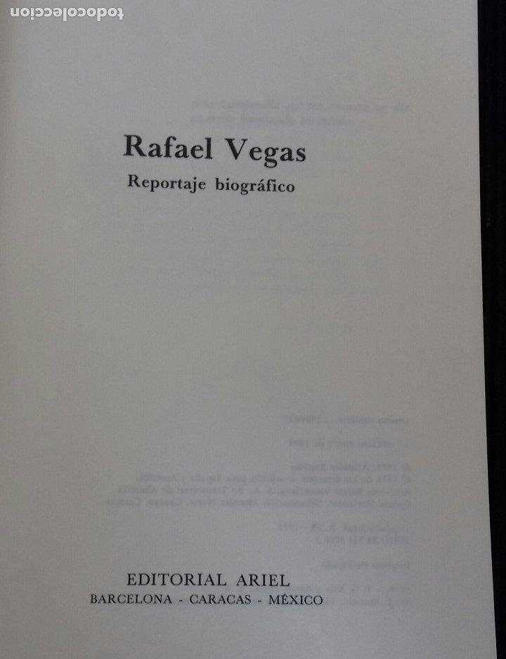 Libros de segunda mano: RAFAEL VEGAS DE ARISTIDES BASTIDAS. ARIEL 1978. - Foto 2 - 173636110