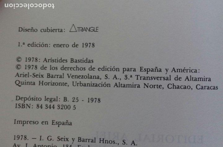 Libros de segunda mano: RAFAEL VEGAS DE ARISTIDES BASTIDAS. ARIEL 1978. - Foto 4 - 173636110