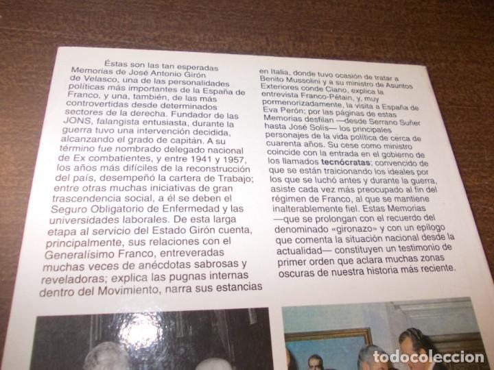 Libros de segunda mano: Si la memoria no me falla, José Antonio Girón de Velasco. Planeta 2ª ed. 11/1994, defecto - Foto 2 - 173812969