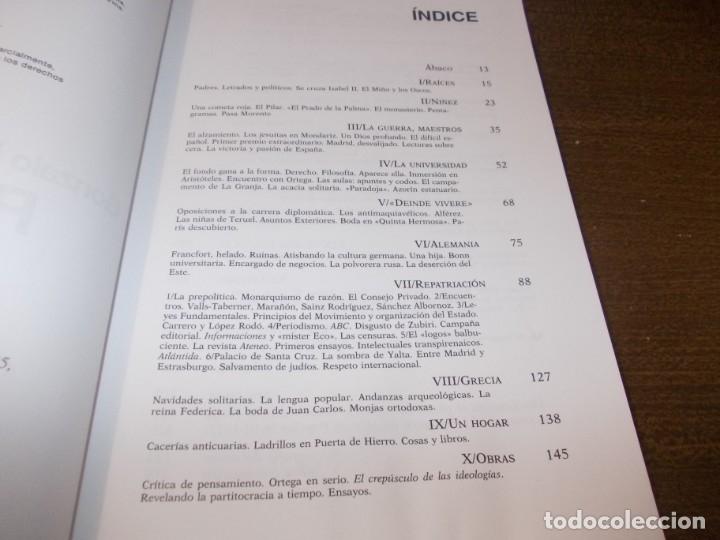 Libros de segunda mano: Río arriba, memorias. Gonzalo Fernández de la Mora. Planeta 1ª ed. marzo 1.995 - Foto 3 - 173813492