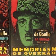 Libros de segunda mano: MEMORIAS DE GUERRA - GENERAL DE GAULLE. Lote 175384072