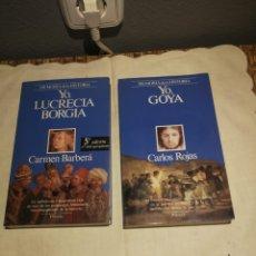 Libros de segunda mano: MEMORIA DE LA HISTORIA YO GOYA Y YO LUCRECIA BORGIA PLANETA. Lote 175584458