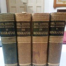 Libri di seconda mano: EMILIO LESSIG , OBRAS COMPLETAS , BIOGRAFÍAS JUVENTUD. Lote 177084139