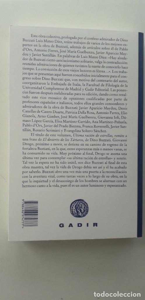 Libros de segunda mano: ÚLTIMA RACIÓN DE ESTRELLAS, DINO BUZZATI Y SU OBRA - VVAA - Foto 3 - 177263537