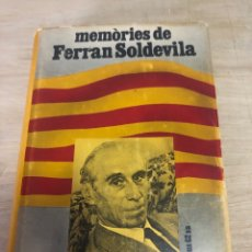 Libros de segunda mano: MÉMOIRES DE FERRAN SOLDEVILA. Lote 177821352