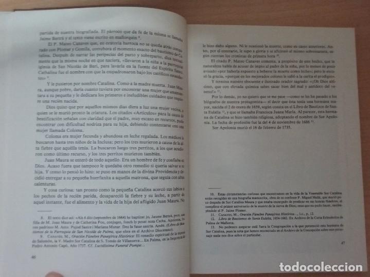 Libros de segunda mano: UNA MUJER MALLORQUINA EJEMPLAR. SOR CATALINA MAURA - TEÓFILO APARICIO - Foto 6 - 178296685