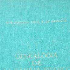 Libros de segunda mano: GENEALOGÍA DE LA FAMILIA FRANCO. CON DEDICATORIA Y FIRMA DEL AUTOR.. Lote 179076140