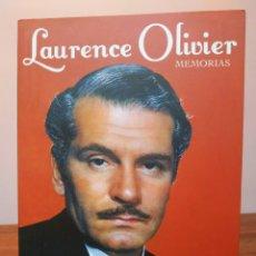 Libros de segunda mano: LAURENCE OLIVIER. MEMORIAS.. Lote 179315957