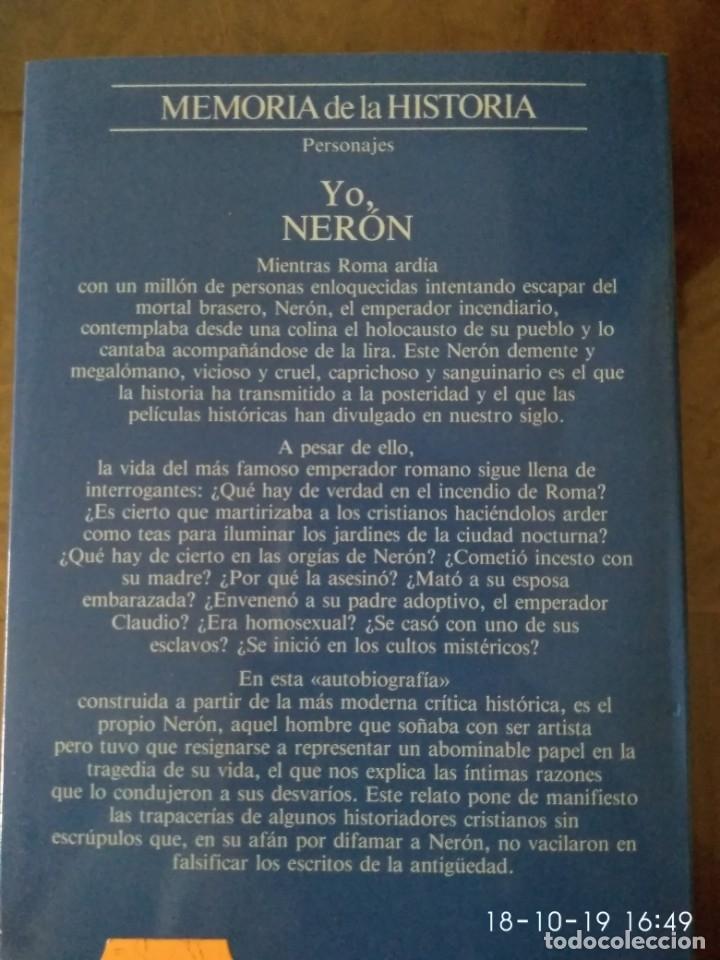 Libros de segunda mano: Yo Nerón.-Juan eslava Galan.- Ed. Planeta - Foto 2 - 180112028