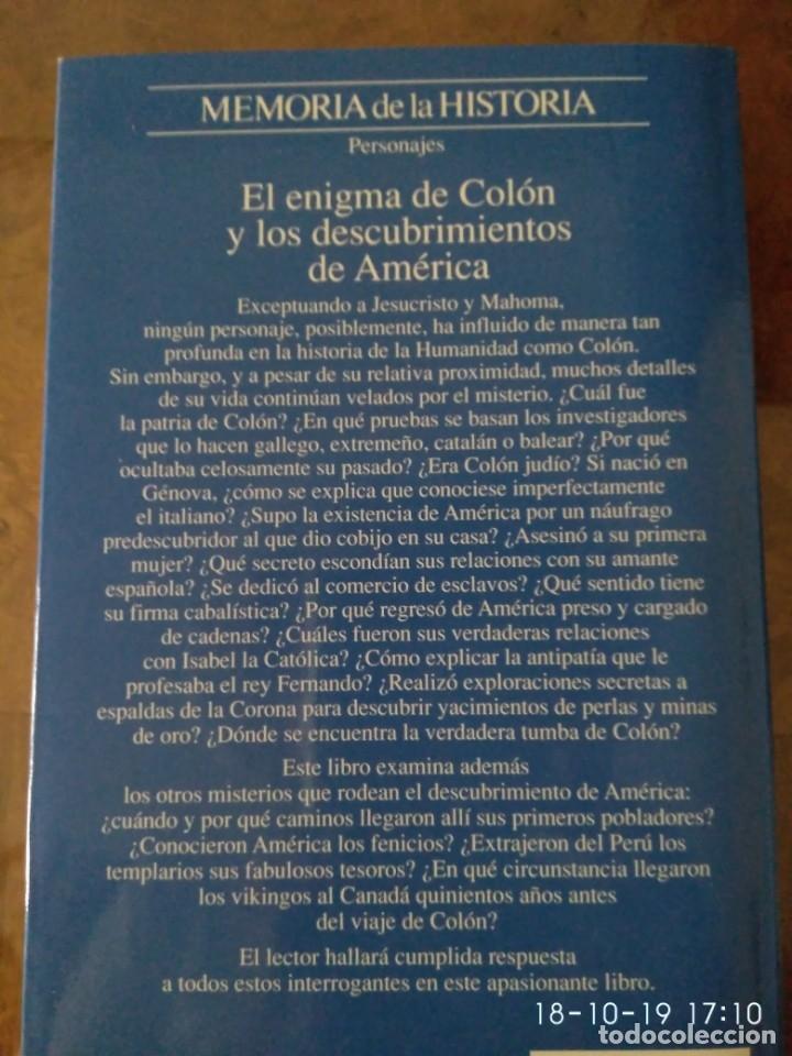 Libros de segunda mano: El enigma de Colón y los descubrimientos de América.- Juan Eslava Galan.- Ed. Planeta - Foto 2 - 180113842