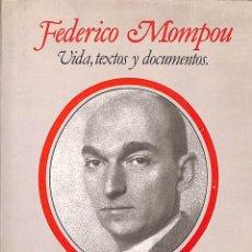 Libros de segunda mano: FEDERICO MOMPOU: VIDA, TEXTOS Y DOCUMENTOS - CLARA JANÉS - FUNDACIÓN BANCO EXTERIOR. Lote 180897592