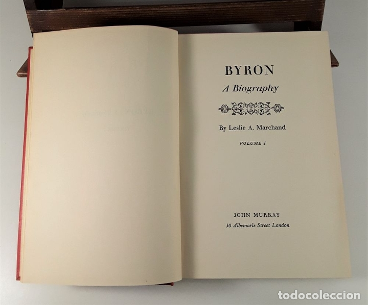 Libros de segunda mano: BYRON A BIOGRAPHY. TOMOS I, II Y III. LESLIE A. EDIT. J. MURRAY. LONDON. 1957. - Foto 5 - 180910695