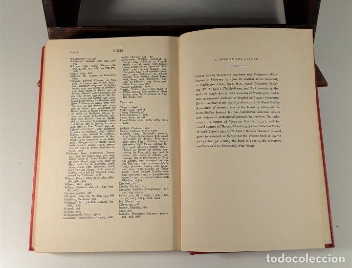 Libros de segunda mano: BYRON A BIOGRAPHY. TOMOS I, II Y III. LESLIE A. EDIT. J. MURRAY. LONDON. 1957. - Foto 10 - 180910695