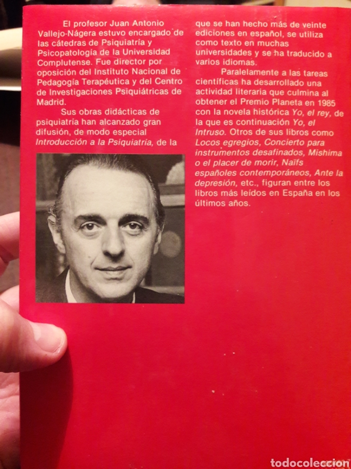 Libros de segunda mano: Yo, el intruso. Por Juan Antonio Vallejo Nájera. Ed planeta 1987 - Foto 2 - 181226031