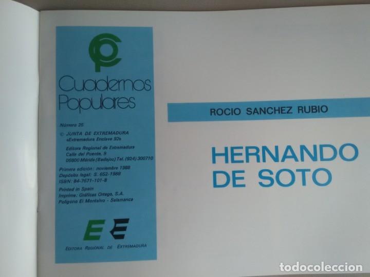 Libros de segunda mano: HERNANDO DE SOTO. Rocío Sánchez Rubio. Cuadernos Populares, nº 25 - Foto 2 - 181491020