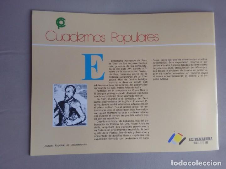 Libros de segunda mano: HERNANDO DE SOTO. Rocío Sánchez Rubio. Cuadernos Populares, nº 25 - Foto 4 - 181491020