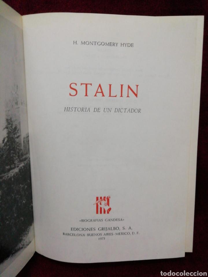 Libros de segunda mano: Stalin. H. Montgomery Hyde. Biografías Gandesa. Editorial Grijalbo. Año 1974 - Foto 2 - 182462117