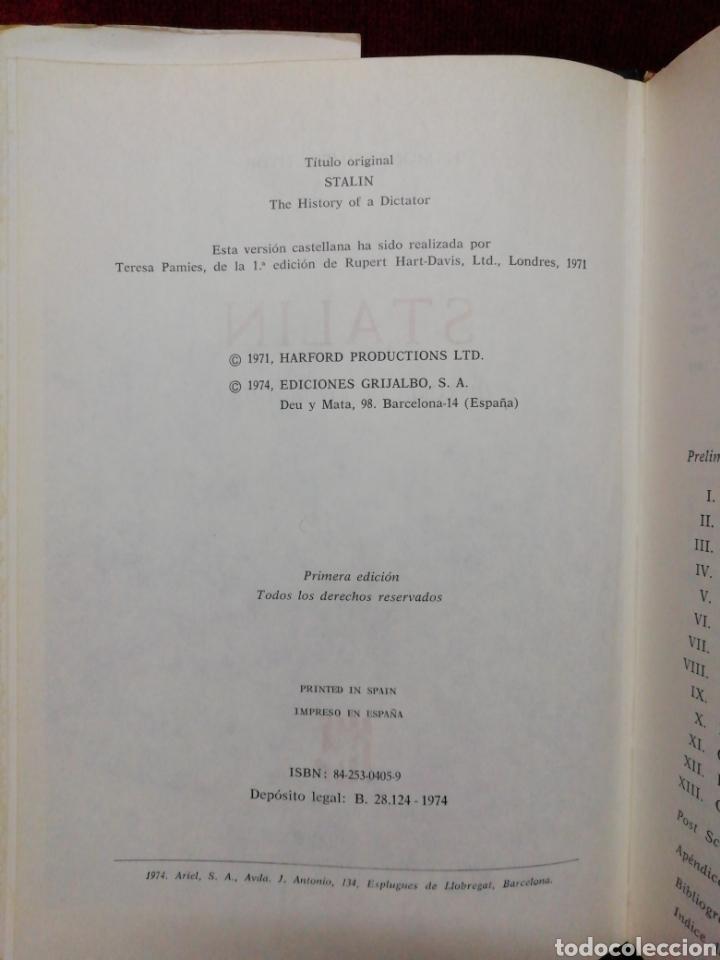 Libros de segunda mano: Stalin. H. Montgomery Hyde. Biografías Gandesa. Editorial Grijalbo. Año 1974 - Foto 3 - 182462117