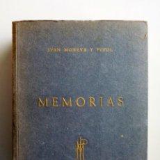 Libros de segunda mano: JUAN MONEVA Y PUYOL // MEMORIAS // 1952 // EDICIÓN NUMERADA. Lote 183539120