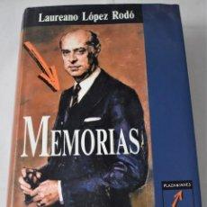Libros de segunda mano: MEMORIAS. LÓPEZ RODÓ, LAUREANO. Lote 184079670