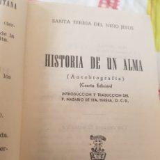 Libros de segunda mano: SANTA TERESA DE JESÚS HISTORIA DE UN ALMA 1963 EDITORIAL DE ESPIRITUALIDAD. Lote 184187363