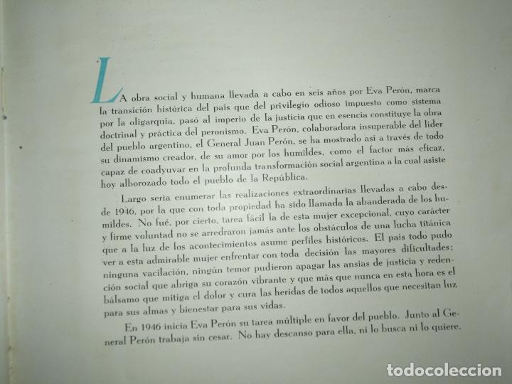 Libros de segunda mano: EVA PERON 34X28 CM 140 PAGINAS (FOTOS) S.I.P.A. SERVICIO INTERNACIONAL DE PUBLICACIONES ARGENTINA - Foto 8 - 184917350