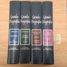 Libros de segunda mano: GRANDES BIOGRAFÍAS. Lote 189125987