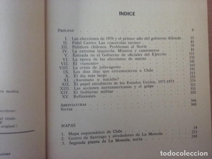 Libros de segunda mano: LOS DOS ÚLTIMOS AÑOS DE SALVADOR ALLENDE - NATHANIEL DAVIS (BIOGRAFÍAS Y MEMORIAS) - Foto 4 - 189473236