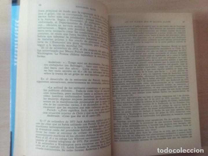 Libros de segunda mano: LOS DOS ÚLTIMOS AÑOS DE SALVADOR ALLENDE - NATHANIEL DAVIS (BIOGRAFÍAS Y MEMORIAS) - Foto 7 - 189473236