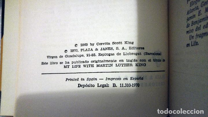 Libros de segunda mano: Mi vida con Martin Luther King de Coretta Scott King - Foto 3 - 189607768