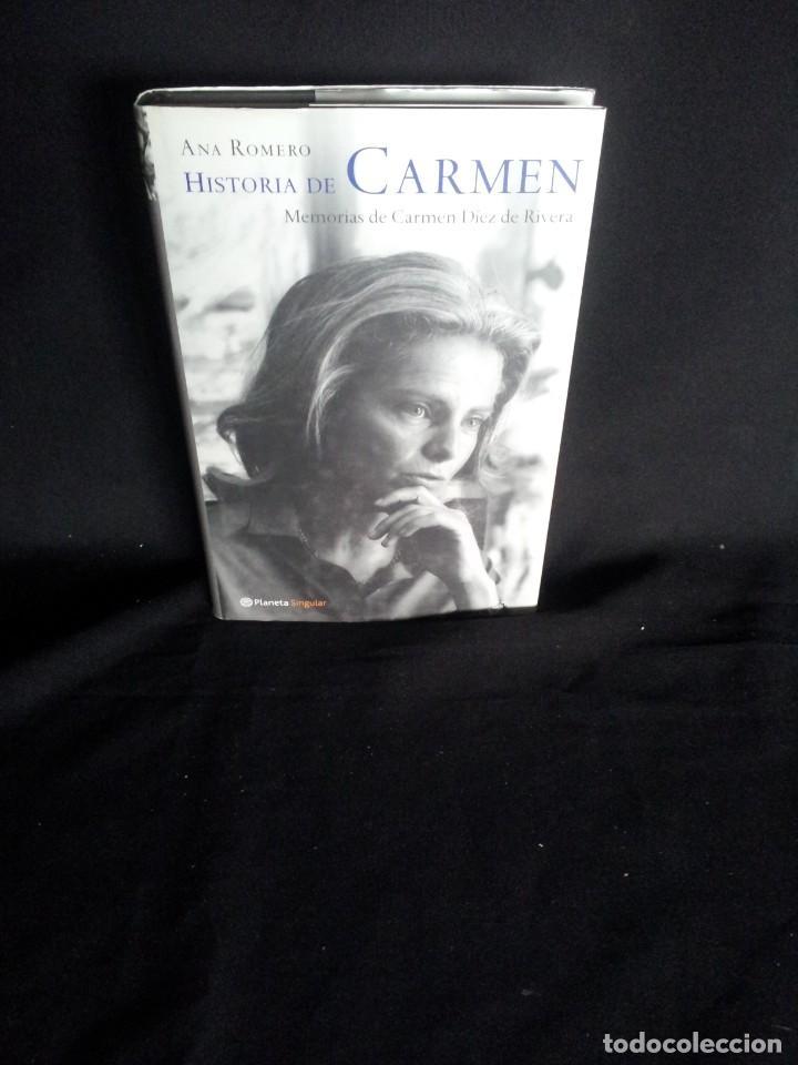 ANA ROMERO - HISTORIA DE CARMEN, MEMORIAS DE CARMEN DIEZ DE RIVERA - PLANETA SINGULAR 2002 (Libros de Segunda Mano - Biografías)