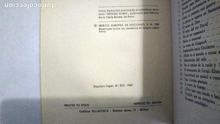 Libros de segunda mano: Gengis Khan de Jean Rousselot - Foto 3 - 192570922