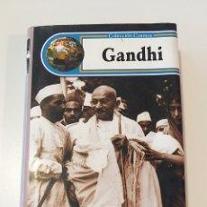 Libros de segunda mano: GANDHI. COLECCIÓN COSMOS. STANLEY SOLANA. EDIMAT LIBROS. BIOGRAFIA.. Lote 222227692