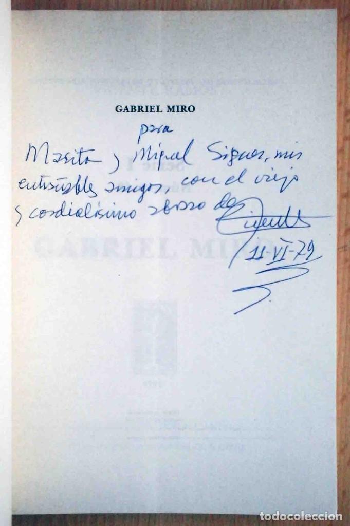 Libros de segunda mano: Vicente Ramos: Gabriel Miró. 1979. Firmado por el autor. - Foto 2 - 194246037