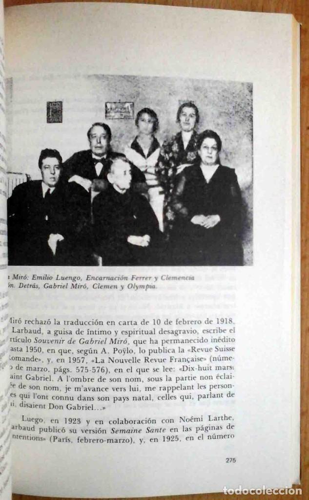 Libros de segunda mano: Vicente Ramos: Gabriel Miró. 1979. Firmado por el autor. - Foto 5 - 194246037