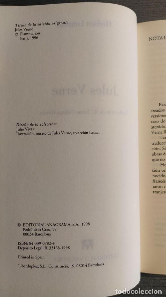 Libros de segunda mano: Jules Verne Herbert Lottman, Anagrama - Foto 9 - 194247682