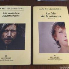 Libros de segunda mano: LOTE: UN HOMBRE ENAMORADO Y LA ISLA DE LA INFANCIA. MI LUCHA 2 Y 3. KARL OVE KNAUSGÅRD. Lote 194303761